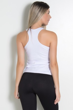 Camiseta de Malha Nadador (A + Estrelas) (Branco) | Ref: KS-F577-002