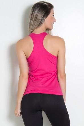 Camiseta de Malha Nadador (A + Estrelas) (Rosa Pink) | Ref: KS-F577-004