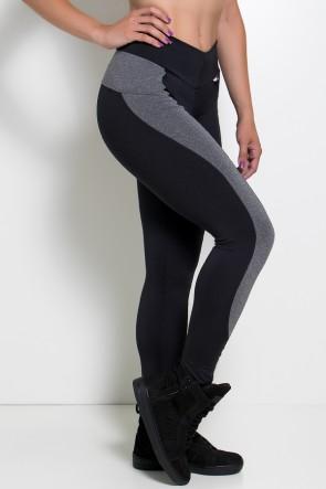 Calça Legging Taylor Lisa com Detalhe Mescla | Ref: KS-F614-001