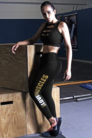 Calça Legging (Love Muscles) | Ref: KS-F618-002