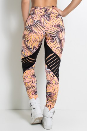 Calça Estampada com Detalhe Rasgado | Ref: F635
