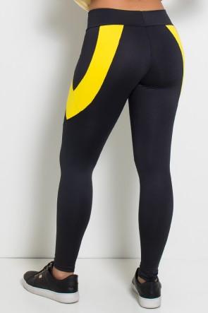 Calça Babi 2 Cores (Preto / Amarelo)   Ref:F637-002