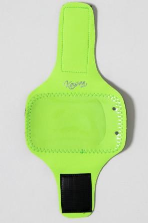Braçadeira Pequena Lisa para Celular (Verde Limão) | Ref: KS-F665-006