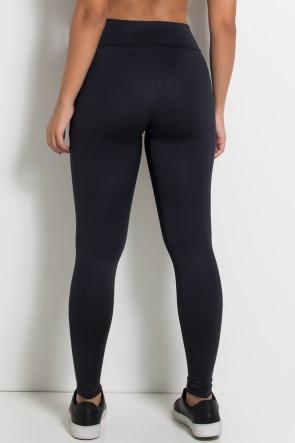 Calça Katherine com Bolso em Detalhe Dry Fit (Preto / Branco) | Ref: KS-F690-001