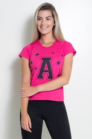 Camiseta Feminina A com Estrelas | Ref: KS-F701