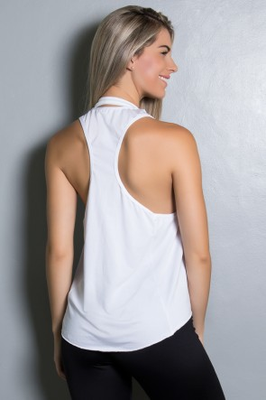 Camiseta de Microlight Lisa (Branco) | Ref: KS-F764-002