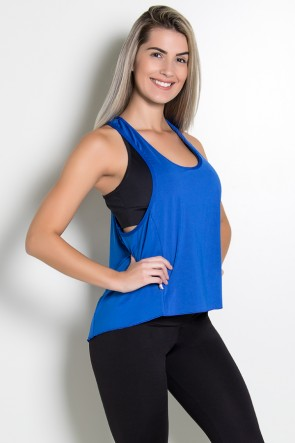 Camiseta de Microlight Lisa (Azul Royal)   Ref: KS-F764-006