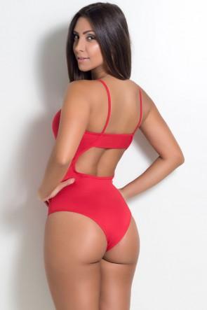 Body Liso de Alcinha (Vermelho) | Ref: KS-F864-001