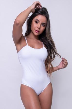 Body Liso de Alcinha (Branco) | Ref: KS-F864-002