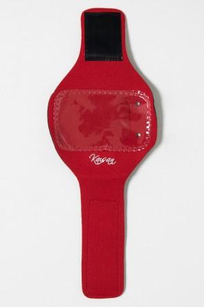 Braçadeira Unissex de Celular para Academia (Vermelho) | Ref: KS-F89-003