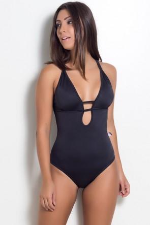 Body Liso com Tiras (Preto) | Ref: KS-F947-001