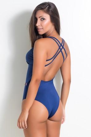 Body Liso com Tiras (Azul Marinho) | Ref: KS-F947-005