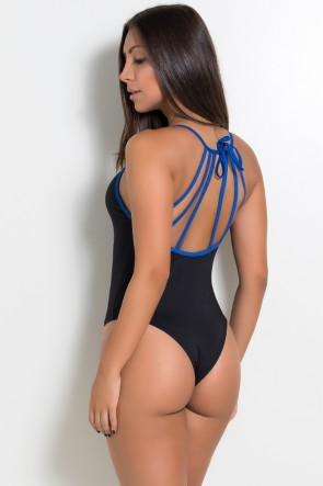 Body com Tiras de Amarrar (Azul Royal) | Ref: KS-F963-002