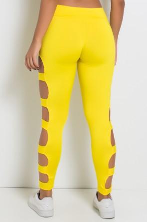 Calça Legging Rasgada (Amarelo) | Ref: KS-F98-003
