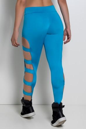 Calça Legging Rasgada (Azul Celeste) | Ref: KS-F98-004