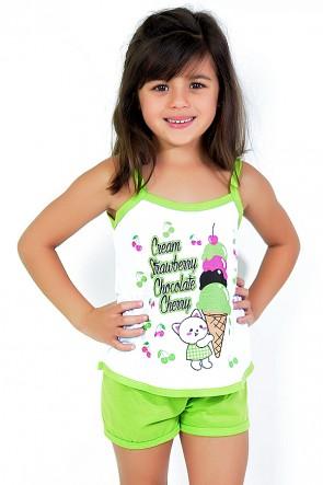 Babydoll Infantil 035 (Verde)