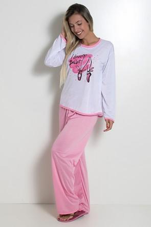 Pijama Feminino Longo 074 (Rosa)