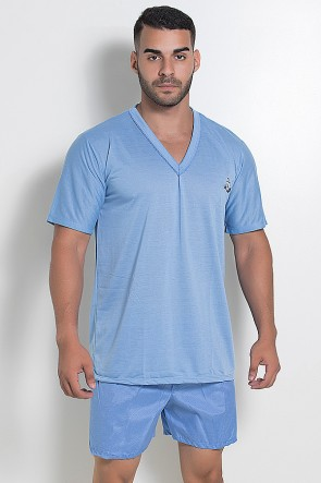 Pijama Masculino 071 (Azul Claro)