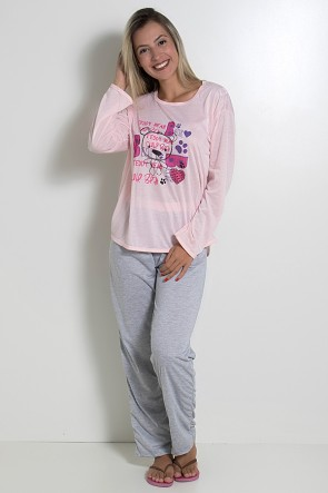 Pijama Longo 245 (Rosa)
