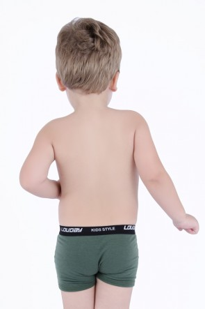 Cueca Boxer de Viscolycra Infantil | Ref: C39