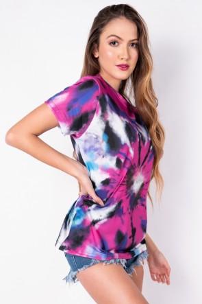Camisetão Tie Dye (Pink / Roxo) | Ref: K2696-A
