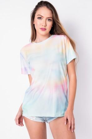 Camisetão Estampa Digital Tie Dye (Arco-Íris Claro) | Ref: K2696-C