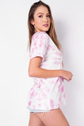 Camisetão Tie Dye (Rosa / Branco) | Ref: K2696-E