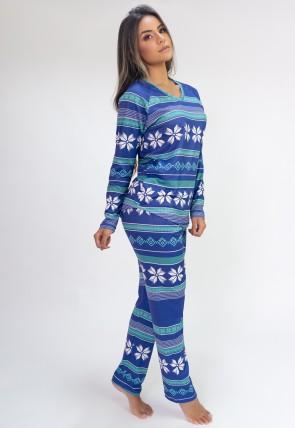 Pijama de Manga Longa Raglan Estampa Digital (Purple Flake) | Ref: K2802