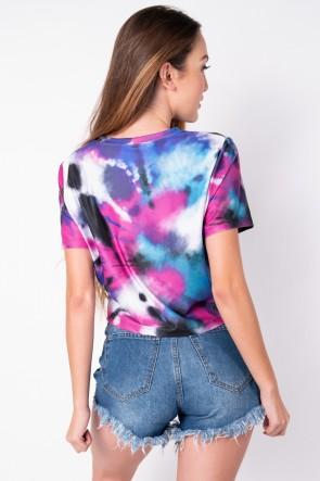 Maxi Cropped Estampa Digital Tie Dye (Pink / Roxo) | Ref: K2827-A