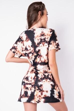Vestido Estampa Digital Tie Dye (Marrom / Preto) | Ref: K2828-F