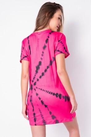Vestido Tie Dye (Pink / Preto) | Ref: K2828-J