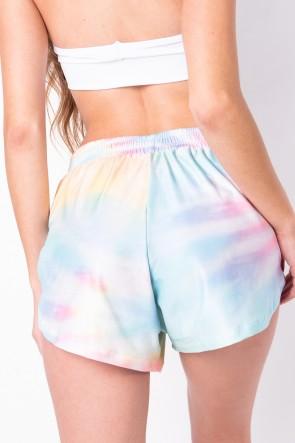 Short Soltinho Estampa Digital Tie Dye (Arco-Íris Claro) | Ref: K2830-C