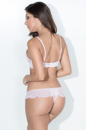 Conjunto Sara 2379 (Branco / Rosa) | Ref: KS-B207-005