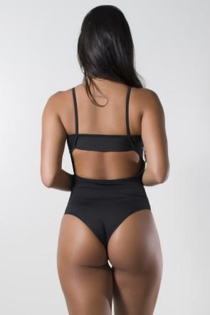 Body Liso de Alcinha (Preto) | Ref: KS-F864-003
