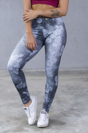 Legging Sublimada PRO (Jeans Roses) | Ref: NTSP31-001