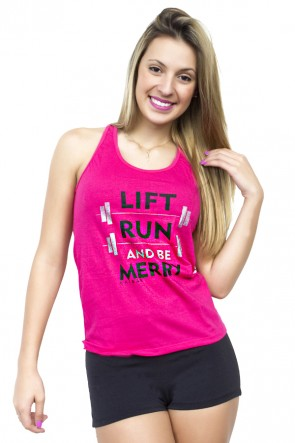 Camiseta de Malha Nadador (Lift run and be merry)