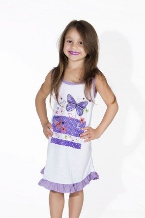 Camisola Infantil 060 (Lilas com borboletas)