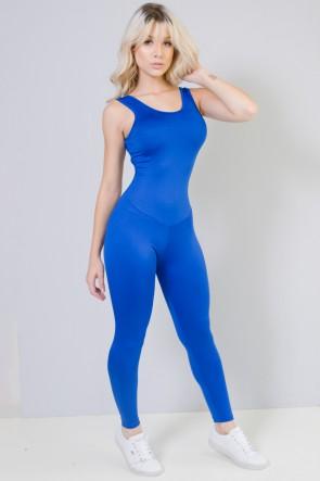 b20810f03 ... Macacão Longo Fitness Costa Aberta Jú (Azul Royal)
