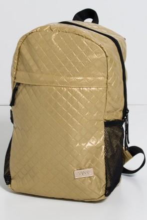 Mochila Matelassê (Dourado) | Ref: KS-MF12-004