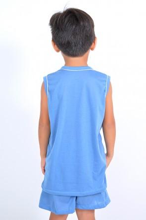 Pijama infantil mas. Regata 142 (Azul) | Ref: CEZ-PA142-002