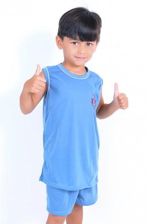 Pijama infantil mas. Regata 142 (Azul)