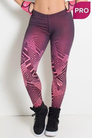 Legging Sublimada PRO (Zig Zag Rosa Neon) | Ref: NTSP10-001