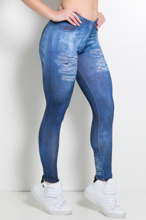 Legging Sublimada PRO (Jeans com Rasgos) | Ref: NTSP30-001