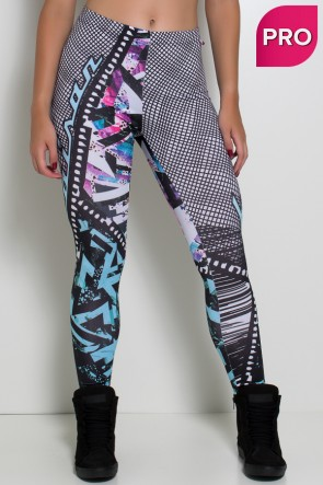 Legging Sublimada PRO (Grafite Colorido) | Ref: NTSP39