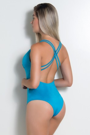 Body Liso com Tiras (Azul Celeste) | Ref: KS-F947-004