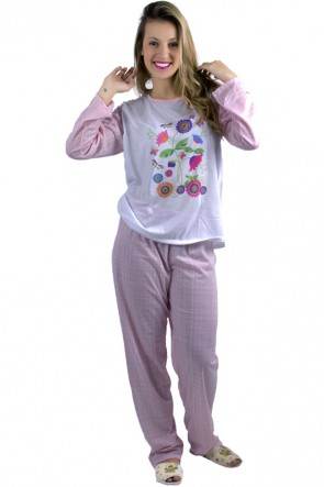 Pijama Quadriculado Feminino