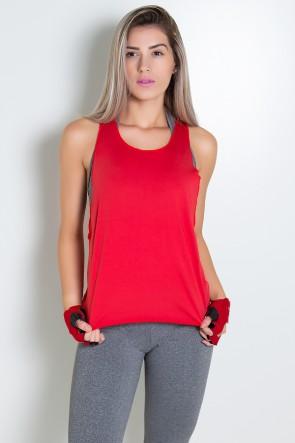 Regata Feminina Lisa (Vermelho) | Ref: KS-F825-003