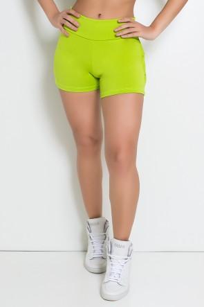 Shortinho Suplex com Babado (Verde Limão) | Ref: KS-F312-004