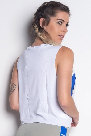 Mini Blusa Viscolycra com Silk | Kaisan Team | (Branco) | Ref: KS-PL02-001