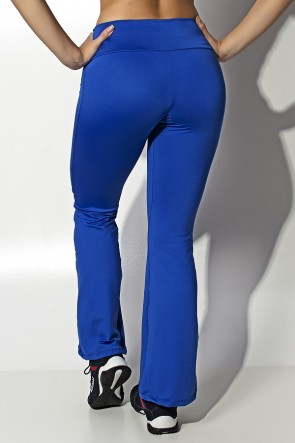 Calça Feminina Flare Boca de Sino (Azul Royal) | Ref: KS-F150-003